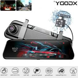 "10"" Dual Lens Touch Screen 1080P Car Video Dash Camera DVR F"