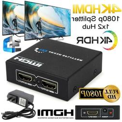 1080P Full HD 4K HDMI Splitter 1X2 Repeater Amplifier 3D Swi