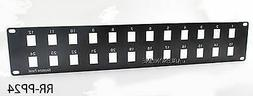 19inch 24-Port  Blank Patch Panel for Keystone Jacks , 2U, M