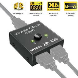 1x2 HDCP 3D UHD 4K Bi Direction HDMI 2.0 Switch Switcher Spl