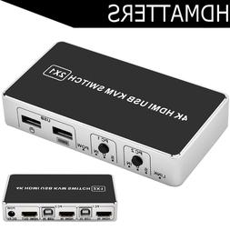 2 port <font><b>HDMI</b></font> <font><b>KVM</b></font> <fon