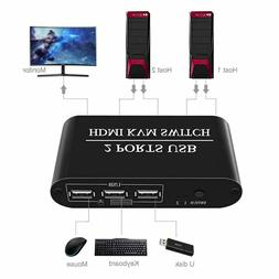 2 ports usb hdmi kvm switch 2x1