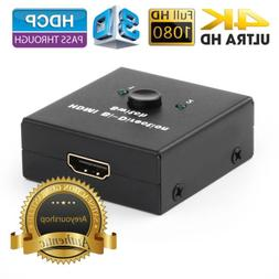 2x1 1x2 UHD 4K Bi Direction HDMI 2.0 Switch Switcher Splitte