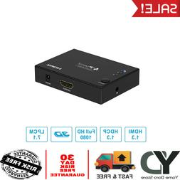 3 in 1 HDMI Mini Switch/Switcher Splitter with IR Remote and