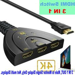 3 in 1 out HDMI converter Auto Select 4K 1080P HDMI Switch S