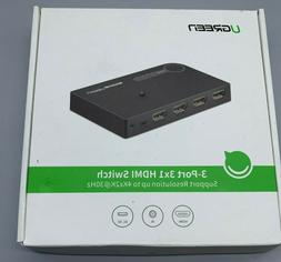 UGreen 3-Port 3 x 1 HDMI Switch - 4K Support