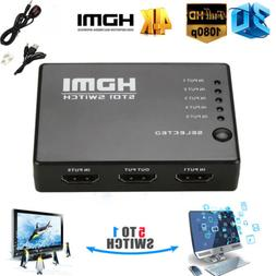 3D 1080p 5 Port 4K HDMI Switch Switcher Selector Splitter Hu