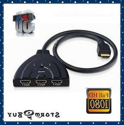 3Port HDMI Splitter Switcher 3x1 Auto Switch 3-In 1-Out With