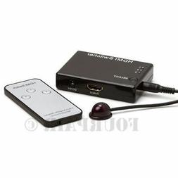 3x1 3 Port HDMI Switch Switcher Selector Hub with Remote 108