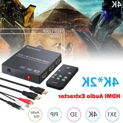3x1 HDMI Switch Audio Extractor Converter Optical Toslink SP