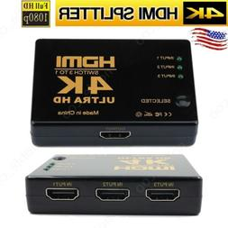 4K*2K 3in 1out HDMI Switch Hub Splitter TV Switcher Adapter
