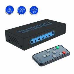 4K@60Hz HDMI Switch 3 Port HDMI Switcher Support Auto Switch