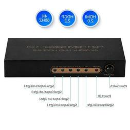 4K@60Hz HDMI Switch 5 Port 1X4 HDMI Switcher Support Auto Sw