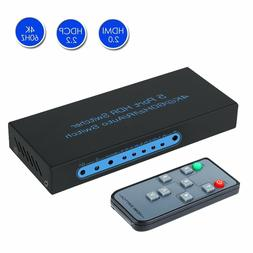 4K@60Hz HDMI Switch 5 Port HDMI Switcher Support Auto Switch