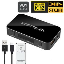 4K HDMI 2.0 Switch 4X1 Switcher Splitter 4 Port 4 in 1 out H