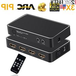 4K HDMI Switch 3x1, 3in1 Out 4K HDMI Switch Extractor Suppor