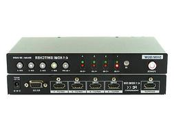 4x1  Port HDMI 3D HDTV Switch Switcher Selector with RS-232/