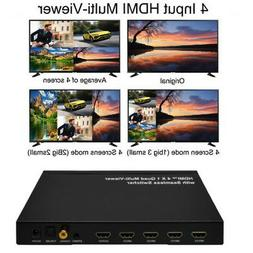 4x1 HDMI 4 Channel Quad Multi-Viewer Seamless Switch Switche