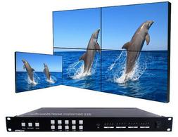 4x4 Seamless HDMI Matrix Switch with 2x2 Video Wall Controll