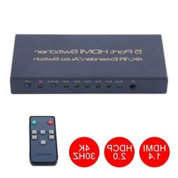 5-Port 1080P 4K HDMI Switch Switcher Selector Splitter with