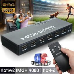 5 port 3d 1080p 4k hdmi switch