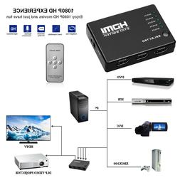5 Port HDMI Switch Switcher Splitter 1080P Full HD for HDTV