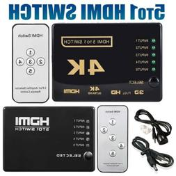 5 To 1 HDMI Splitter Selector Switch Full HD 1080p 3D 2K 4K