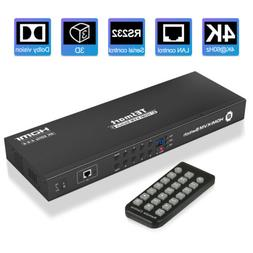 8 Port HDMI KVM Switch TESmart Switcher Box Support 3840*216
