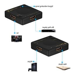 Portta HDMI Mini Switch/Switcher 3 Port 3x1 v1.4 for HDTV 10