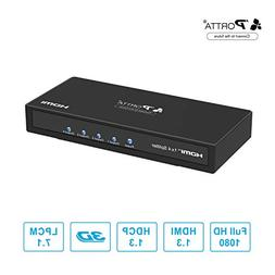 Portta HDMI Splitter 4 Port 1x4 v1.3 support Full HD 3D 1080