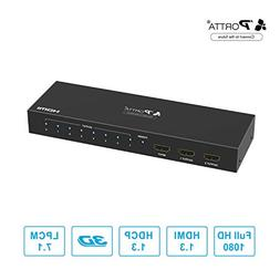Portta HDMI Splitter 8 Port 1x8 v1.3 support Full HD 1080p D