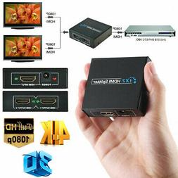Full HD HDMI  Splitter 1 in 2 Out Repeater Amplifier Hub 3D