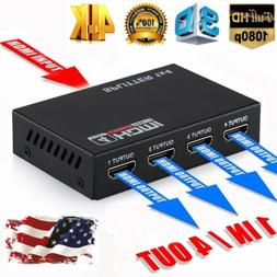 Full HD HDMI Splitter Amplifier Repeater 1080P 4K HDMI Switc