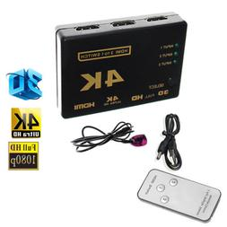 4K HDMI 3in 1out Switch Splitter TV Switcher Box Ultra HD fo