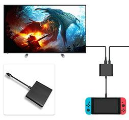 FastSnail HDMI Type C Hub Adapter for Nintendo Switch, HDMI