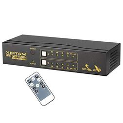 CKL HDMI Matrix Switch Splitter Selector Box 4 Port in 2 Out