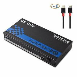 Cable Matters 4 Port HDMI Splitter with 4K Resolution Suppor