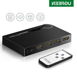 UGREEN 3 Ports HDMI Switch Selector Switcher Splitter Hub IR