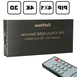 DotStone HDMI Switch 4×1 with PIP Auto Off/On Switcher Hub