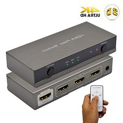 HDMI Switch 3x1, Cingk 3 Input 1 Output HDMI Switcher Amplif