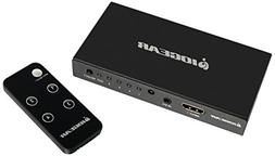 4K 4-Port HDMI Switch with Remote