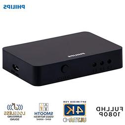 Philips 3 Device HDMI Switch, Use with 4K TV Smart TV Roku X