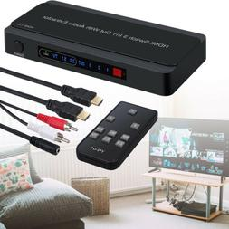 HDMI Switch with Audio Extractor Converter Analog Optical To