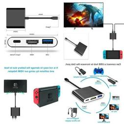Fastsnail HDMI Type C Hub Adapter For Nintendo Switch Conver