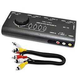 iKKEGOL 4 in 1 AV Audio Video Signal Switcher S-Video Select