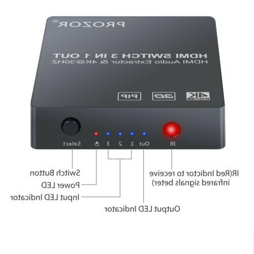 4K 3D Audio Extractor Converter w/ PIP New