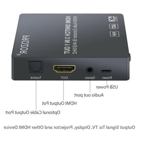 4K HDMI Switch Switcher HDMI Audio Converter PIP New