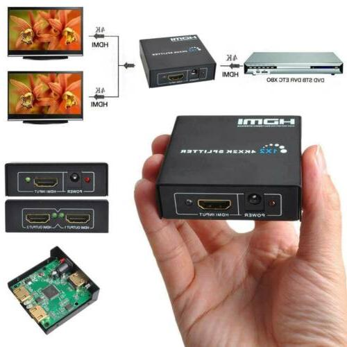 1080P Full HDMI 1X2 Repeater Amplifier 3D Switch Box 1 in 2 out