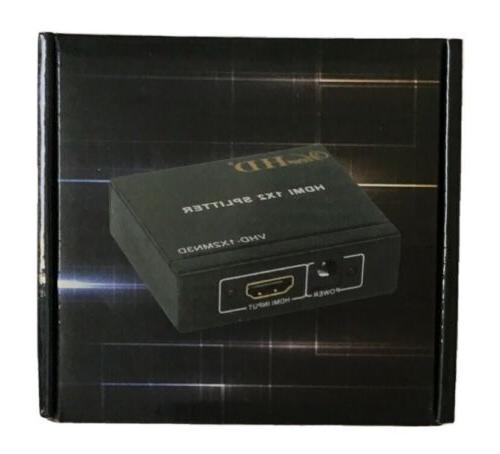 1x2 hdmi splitter v1 3b one input