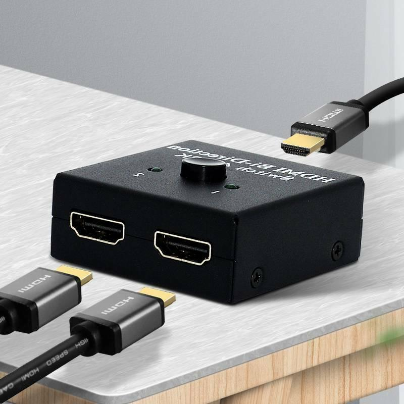 2-Port HDMI Switch Switcher & Splitter Selector US
